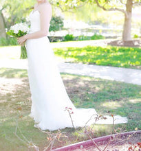 Load image into Gallery viewer, Maggie Sottero 'Patience' size 6 used wedding dress side view on bride