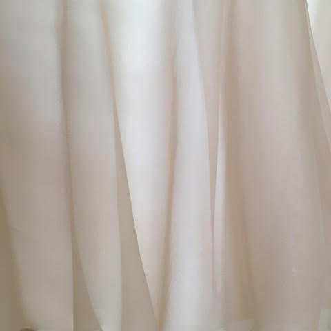 L'Ezu Atelier of Beverly Hills 'Custom' size 8 used wedding dress view of material