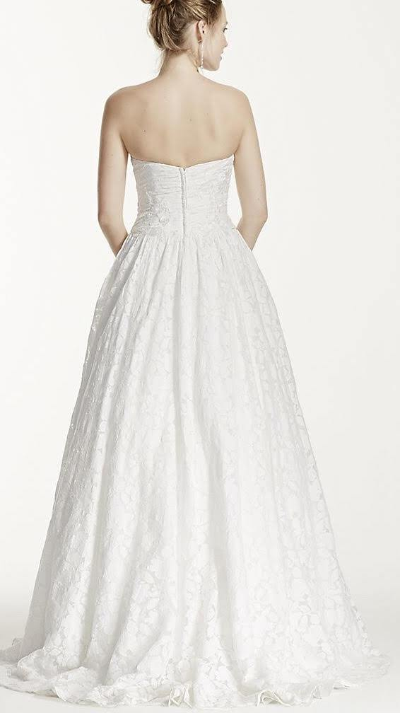 David's Bridal 'Strapless Lace'