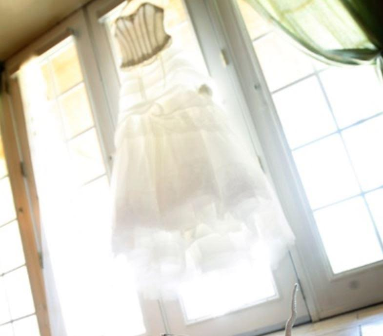 Atelier Aimee 'Glamorous' size 6 used wedding dress front view on hanger