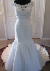 Maggie Sottero 'Amara Rose' size 6 used wedding dress front view on mannequin