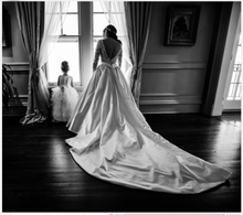 Load image into Gallery viewer, Pnina Tornai '5179-4422' size 14 used wedding dress back view on bride