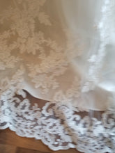 Load image into Gallery viewer, Maggie Sottero 'Ballgown Princess' size 22 new wedding dress view of fabric