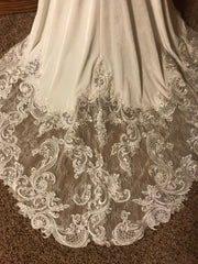 Sottero and Midgley 'Bradford' size 8 new wedding dress view of train