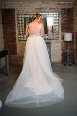 Allure 'Sequin' size 16 used wedding dress back view on bride