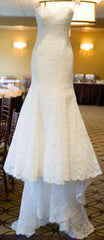 Dennis Basso '1174' size 6 used wedding dress front view on hanger