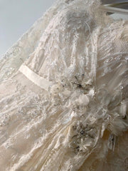Elie Saab 'Birgit' size 6 used wedding dress front view flat