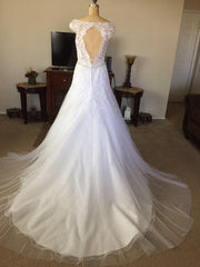 Mori Lee 'Marciana-8117' size 10 new wedding dress back view on mannequin