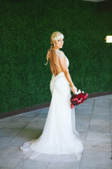 Inbal Dror 'BR 13 14' size 6 used wedding dress back view on bride