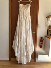 Load image into Gallery viewer, Maggie Sottero 'Viera' size 10 used wedding dress back view on hanger
