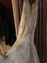 Load image into Gallery viewer, Maggie Sottero 'Greer' size 2 used wedding dress back view on hanger