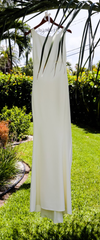 Amsale 'Heather' size 6 used wedding dress front view on hanger