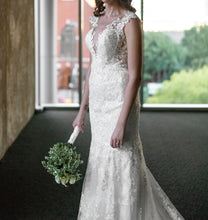 Load image into Gallery viewer, Eddy K '1131' size 4 used wedding dress front view on bride