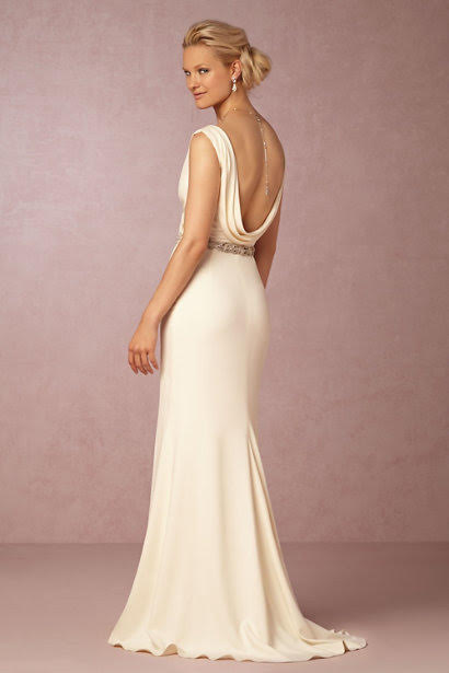 Badgley Mischka 'Livia' size 2 sample wedding dress back view on model