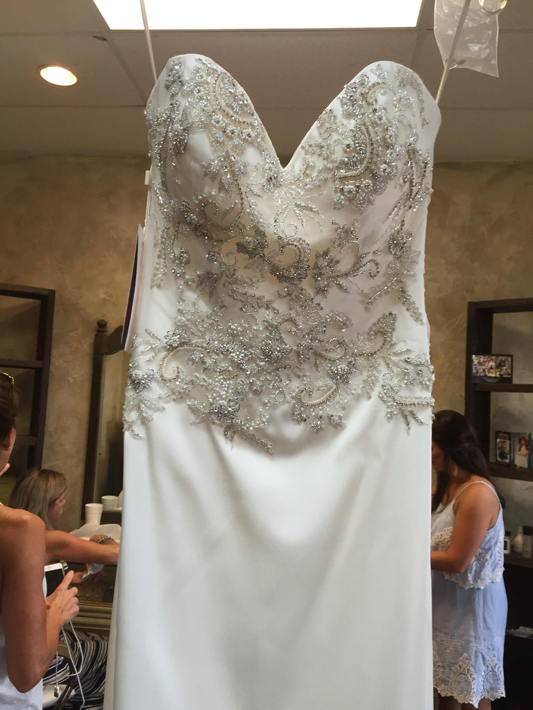 Casablanca '2202' size 2 new wedding dress front view on hanger