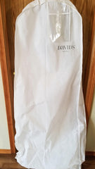 David's Bridal 'Cap Sleeve Satin' size 24 new wedding dress view of dustbag
