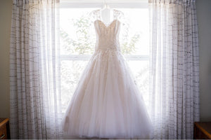 Sophia Tolli 'Y11637' size 16 used wedding dress front view on hanger