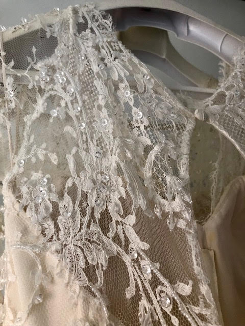 Elie Saab 'Birgit' size 6 used wedding dress view of fabric