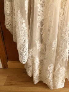 Maggie Sottero 'Viera' size 10 used wedding dress view of hemline