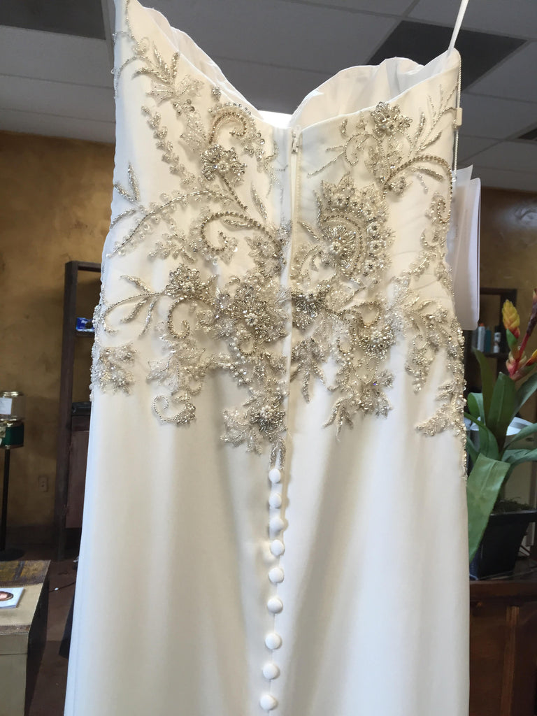 Casablanca '2202' size 2 new wedding dress back view on hanger