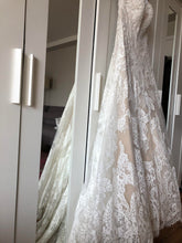 Load image into Gallery viewer, Watters 'Lyric 3012B' size 12 used wedding dress view of material
