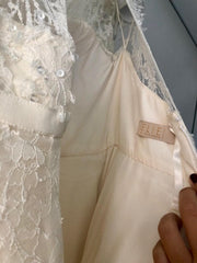 Elie Saab 'Birgit' size 6 used wedding dress  back view on hanger