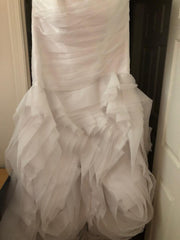 Vera Wang White 'Trumpet' size 24 new wedding dress view of hemline