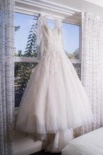 Load image into Gallery viewer, Sophia Tolli 'Y11637' size 16 used wedding dress front view on hanger