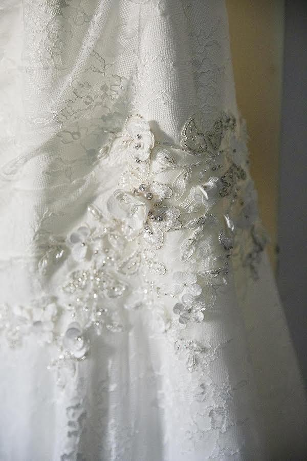 Oleg Cassini 'Strapless Lace Fit & Flare'