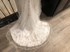 Kitty Chen 'Evelyn' size 2 used wedding dress view of train