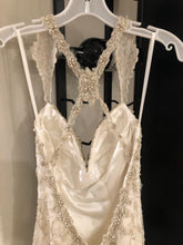 Load image into Gallery viewer, Kitty Chen 'Evelyn' size 2 used wedding dress back view on hanger