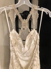 Kitty Chen 'Evelyn' size 2 used wedding dress back view on hanger