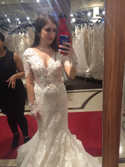 Ines Di Santo 'Madrid' size 6 new wedding dress front view on bride