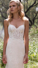 Load image into Gallery viewer, Limor Rosen 'Holly' size 8 used wedding dress front view on model