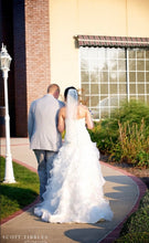 Load image into Gallery viewer, Cupid Couture '124' size 8 used wedding dress back view on bride