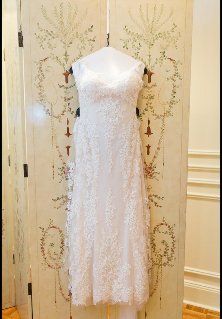 Sottero and Midgley 'Mattea' size 2 used wedding dress front view on hanger