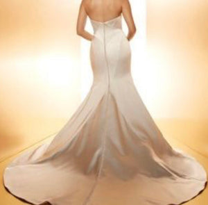 Matthew Christopher 'Vivian' size 8 new wedding dress back view on model