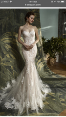 Enzoani 'Katerina' size 6 new wedding dress front view on model