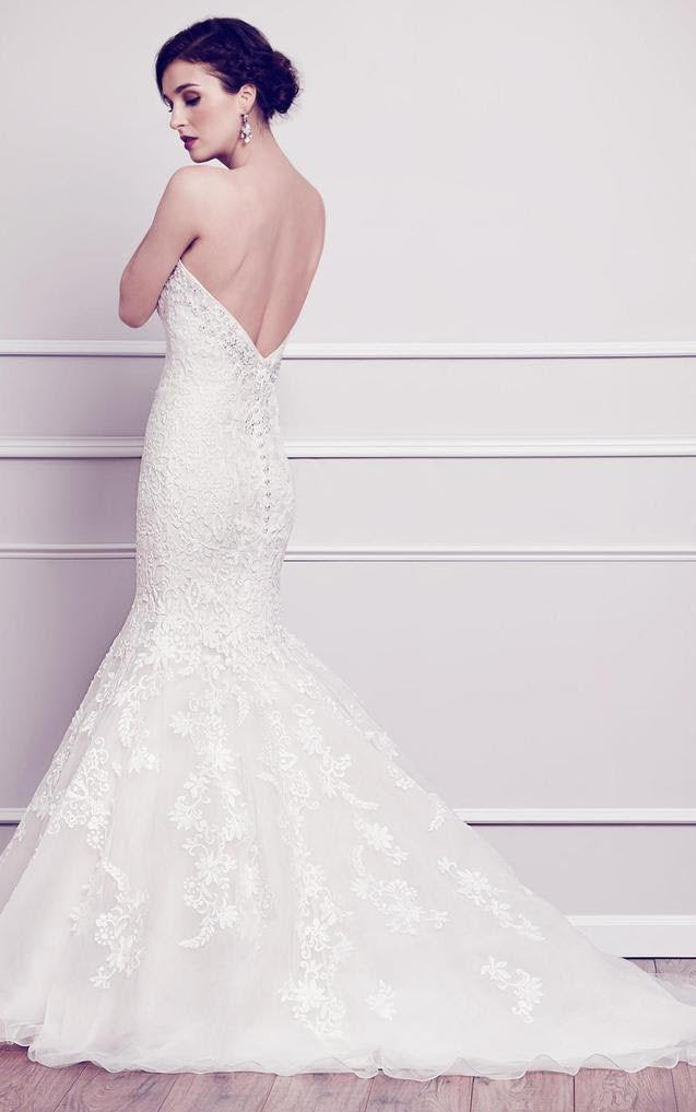 Kenneth Winston '1564' size 4 new wedding dress back view on model