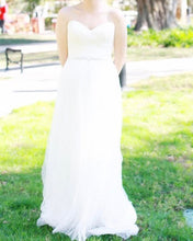 Load image into Gallery viewer, Maggie Sottero 'Patience' size 6 used wedding dress front view on bride