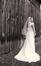 Load image into Gallery viewer, Alfred Angelo '2437' size 12 used wedding dress back view on bride