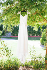 Inbal Dror 'BR 13 14' size 6 used wedding dress front view on hanger