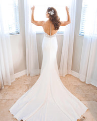 Martina Liana 'Illusion' size 4 used wedding dress back view on bride