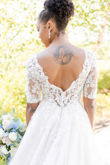 Maggie Sottero 'Zander' size 6 used wedding dress back view on bride