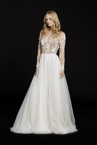 Hayley Paige 'Remmington' size 2 new wedding dress front view on model