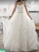 Load image into Gallery viewer, Marisa 'Morilee' size 2 sample wedding dress front view on model