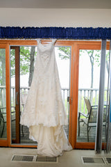 Essence of Australia ' D1617' size 14 used wedding dress front view on hanger