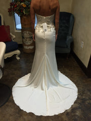 Casablanca '2202' size 2 new wedding dress back view on bride