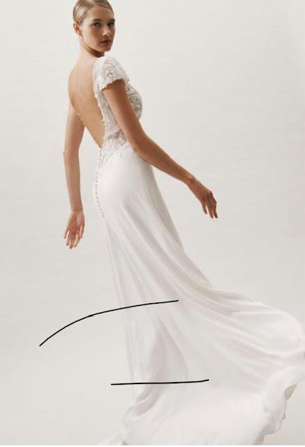 St. Patrick 'Roosevelt' size 6 used wedding dress back view on model