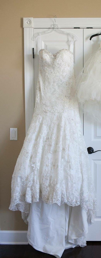 Allure Bridals '8958' size 12 used wedding dress front view on hanger